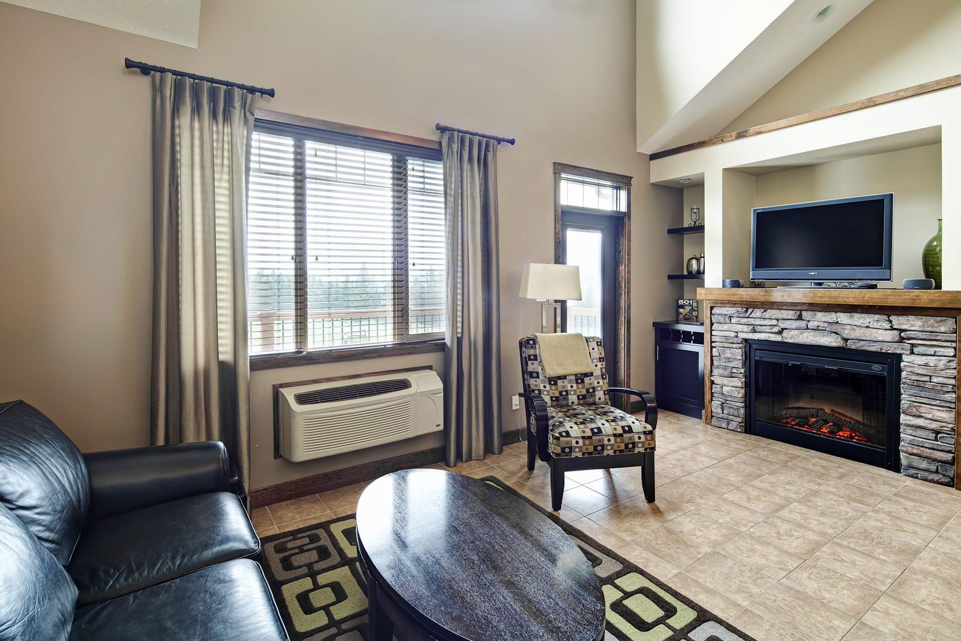 1 Bedroom Loft Living Area