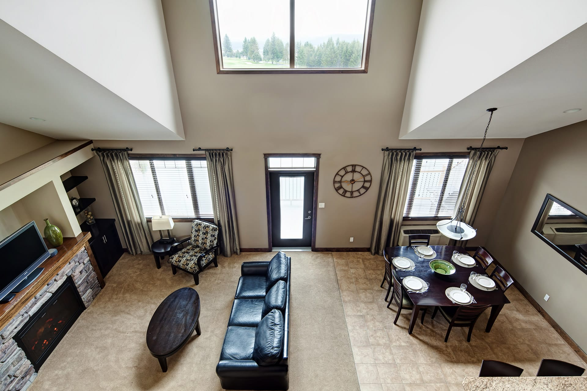 one 2 bedroom loft unit is available with a pool table mini bar and