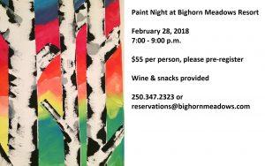 Paint Night at Bighorn Meadows @ Bighorn Meadows Resort - Forster Room
