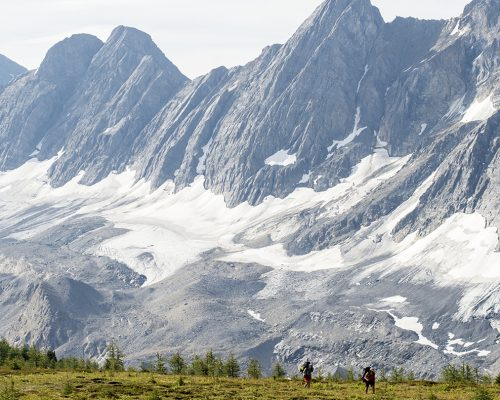 Hikers on the Rockwall Trail in Kootenay National Park.