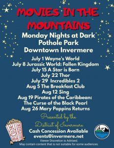 Movies in the Mountains Invermere @ Pothole Park